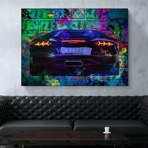 Picture Wall Art Posters Sports Car Money Painting Posters And Prints Canvas Art Poster Poster Vintage