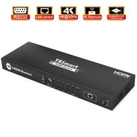 4K UHD 16 Ports HDMI Switch Console Rack Mount Switch USB 2.0 Switch HDM16 Port Input up to 16 PCs RS232 LAN Port Control Switch
