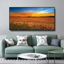 Field Pastoral Canvas Painting Nordic Poster Nature Wall Art Print Landscape Decorative Picture Scandinavian Home Decoration selflessly wall impressionism monet wild poppy field sunrise landscape canvas painting art print poster picture painting