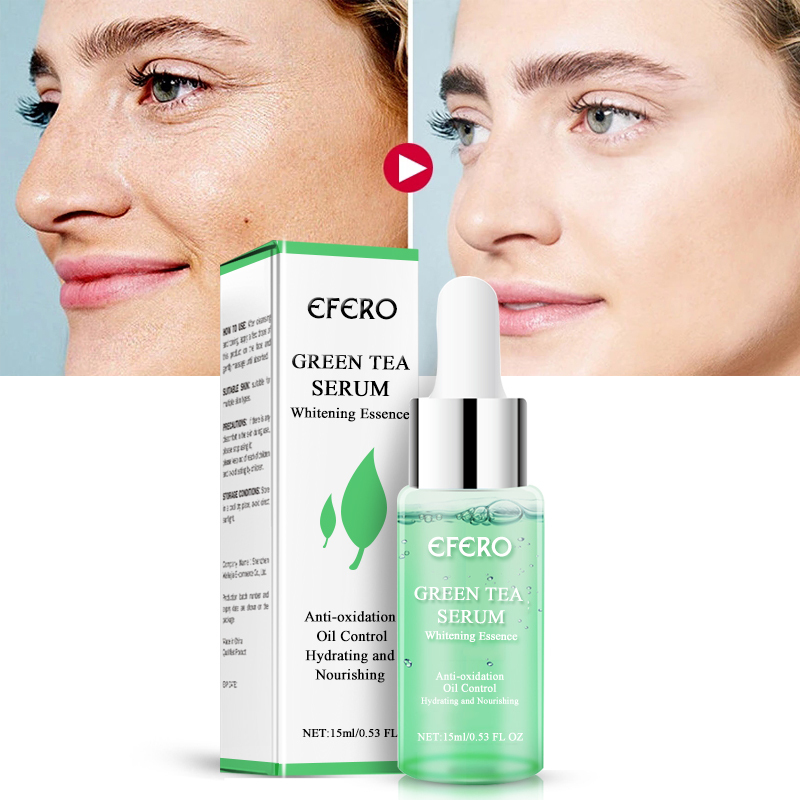 Green Tea Serum Collagen Peptides Serum AntiAging Wrinkle Lift Firming Whitening Face Cream Moisturizing Essence 15ML NEW TSLM1