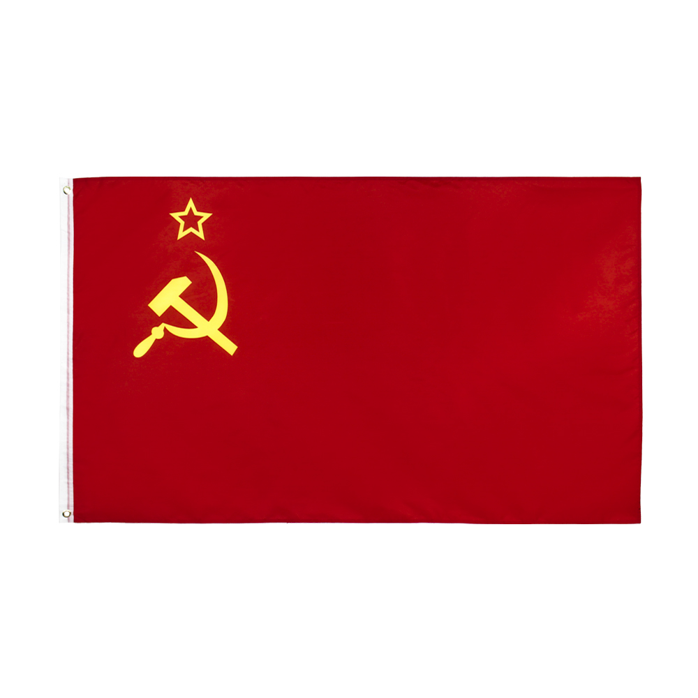 Johnin bandeira vermelha do cccp, 90x150cm, união de repetições socialista soviéticas, ussr