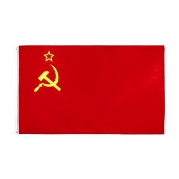 johnin 90x150cm Red CCCP Union of Soviet Socialist Republics USSR Flag