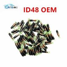 10 шт./лот Профессиональный ID48 ID:48 ID 48 стеклянный транспондер чип высокое качество, ключ транспондер чип id48 id 48 megamos криптовалюп
