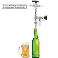 Homebrew 304 Stainless Steel Counter Pressure Beer Bottle Filler Home Brew CO2 beer brewing Kit