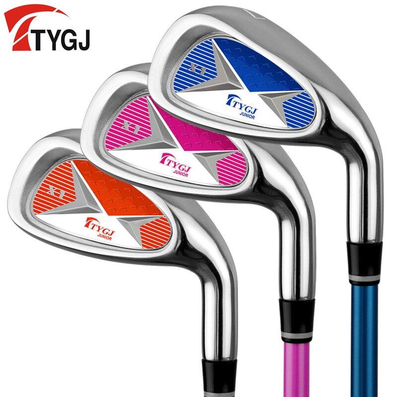 Tygj Genuine Product Golf Children Clubs Golf Carbon Iron No. 7 Irons Men And Women Kids Beginner lian xi gan