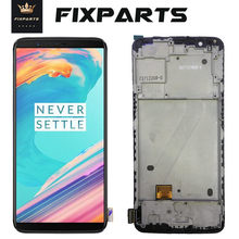 Original Oneplus 5T LCD Display Screen Touch Panel Complete Assembly Oneplus 5T A5010 Five 5T LCD Digitizer Display With Frame original for highsrceen power 5 pro lcd five pro display touch screen sensor complete digitizer with touch buttons assembly