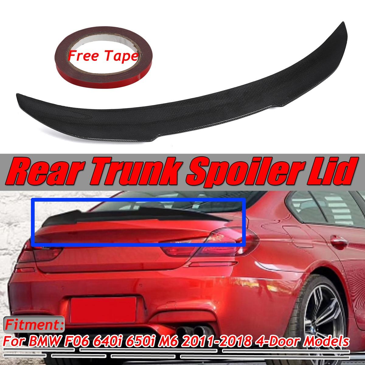 Carbon For Tesla Sedan 4DR Model S V-Style Rear Trunk Spoiler Wing 2011~2018