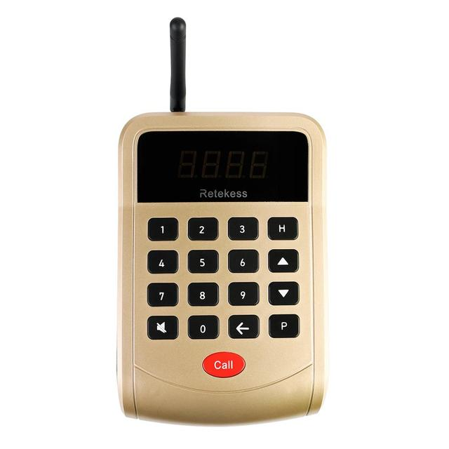 Système d'appel de serveur de Restaurant de téléavertisseur de Retekess T118 avec 10 récepteurs de téléavertisseur pour le système de radiomessagerie de Restaurant de clinique d'église 3