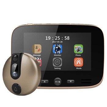 Интеллектуальный электронный кошачий глаз беспроводной Визуальный дверной звонок 4,3 дюймов визуальный кошачий глаз безопасности Дверь Зе...