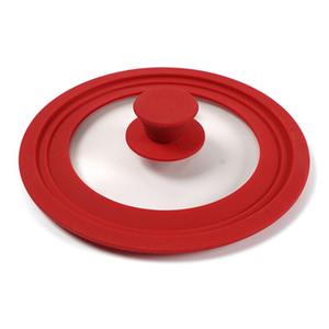 Image 3 - Cookware Silicone Glass Lid Explosion Proof Anti Fall Multi Function Pot Wok Casserole High Temperature Round Kitchen Lid