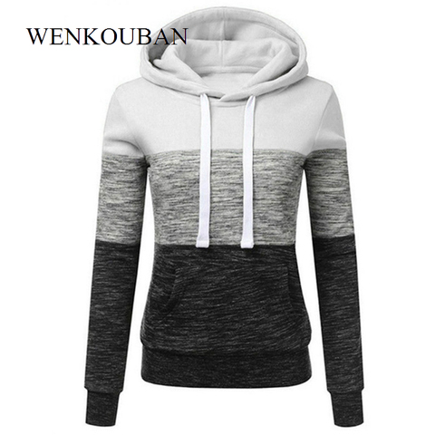 Hoodies Women Sweatshirts Fashion Womens Casual Hoodies Sweatshirt Patchwork Ladies Hooded Pullover Women Clothes Bluza Damska Lahore
