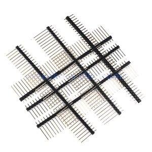 10 шт. 2,54 мм Однорядный штыревой разъем 1x40P поломка печатной платы штыревой разъем длина 11/15/17/19/21/25 мм штыревой разъем для Arduino