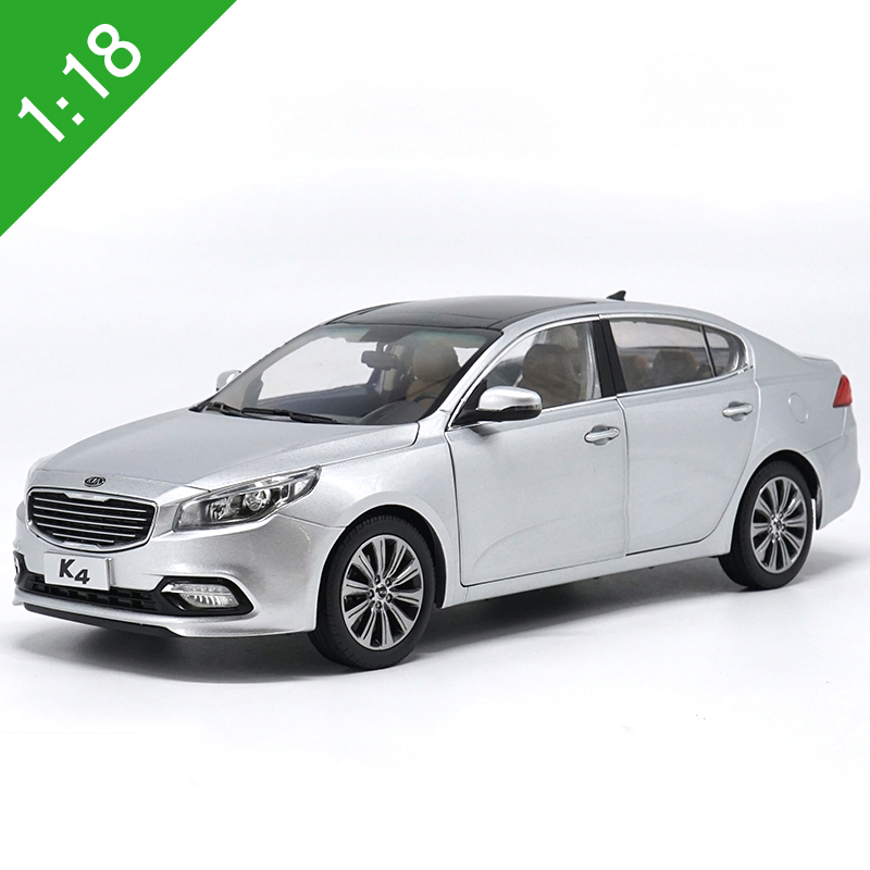 1:18 High Meticulous 2014 KIA K4 Alloy Model Car Static Metal Model Vehicles With Original Box For Collectibles Gift