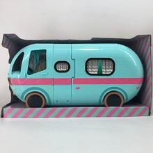Lol bonecas surpresa glamper 2 em 1 ônibus destacável casa anime figuras modelo presente de aniversário da menina