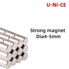 100 pieces 4mmX5mm strong cylinder rare earth magnet 4X5 neodymium N35 Mini small round magnets 4*5mm