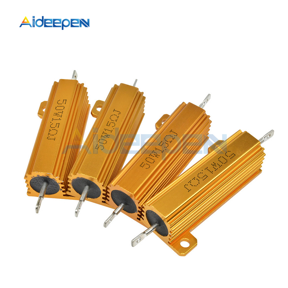 50W 5% Aluminum Housed Case Power Metal Shell Case Wirewound Resistor 0.1~1K 0.1 0.5 1 1.5 2 3 <font><b>6</b></font> <font><b>10</b></font> <font><b>12</b></font> 15 20 22 30 50 100 1K ohm image