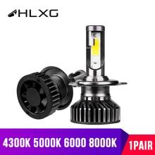 HLXG Car Lights Turbo LED H7 10000LM H11 Lamp for Car Headlight Bulbs H4 9005 9006 HB3 HB4 LED Diodes 12 High Low Beam 6000K 12V