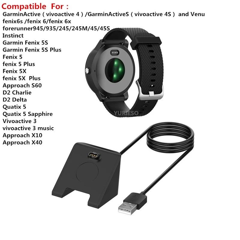 USB Charging Data Cradle Dock Cable Charger For Garmin Fenix 5 5S 6X Plus Venu