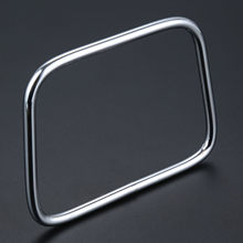 Square Metal Bag Handle Trapezoid Handbag DIY Craft Handmade Zinc Alloy Silver Purse Shoulder Bag 90*100*72*5.8mm(China)