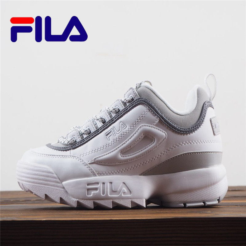 FILA Disruptor II 2 Generation Men And Women's Shoes Large Sawtooth Thicker Bottomed Jogging Shoes SIZE EUR 36-41