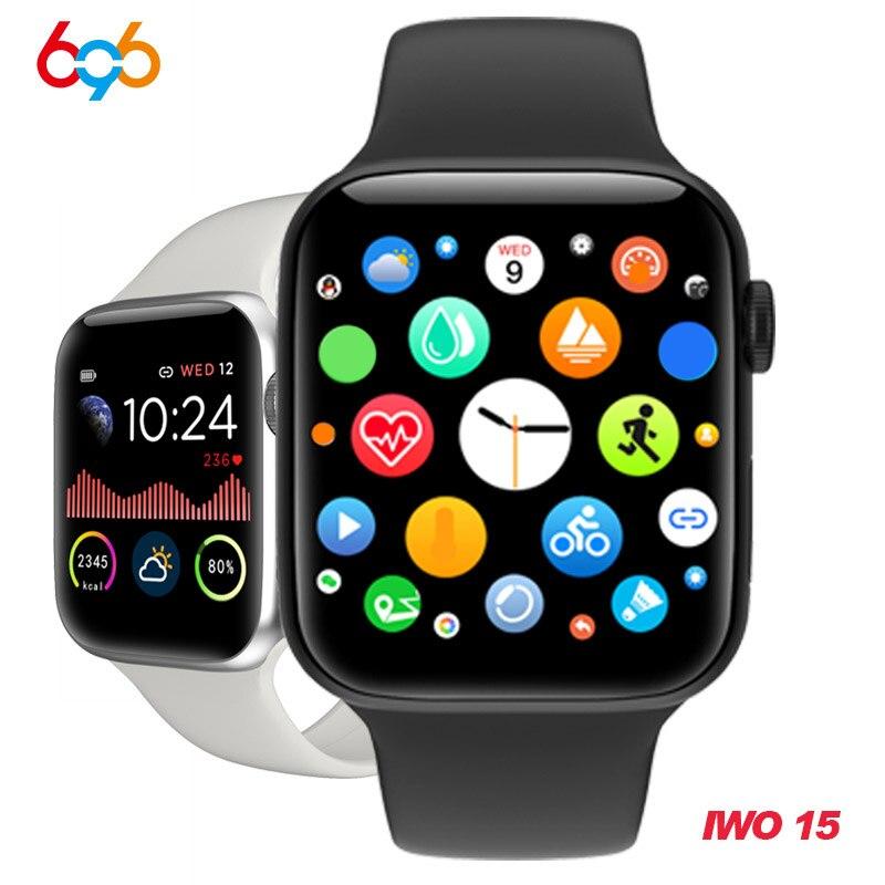 W68 Смарт-часы для мужчин серии 5 полный сенсорный IP67 Водонепроницаемый фитнес-трекер монитор сердечного ритма smartwatch для женщин VS W58 Iwo 12