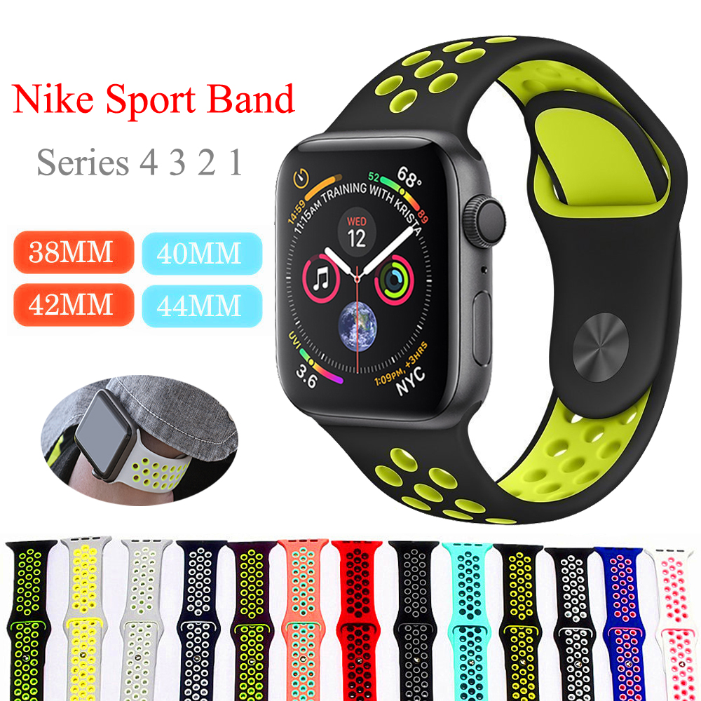 Aplle Watch 3 Bracelet For Apple Watch 4 Band 44mm Correa Apple Watch Band 42mm 38mm Iwatch 40mm Strap Nike Silicone Watchband