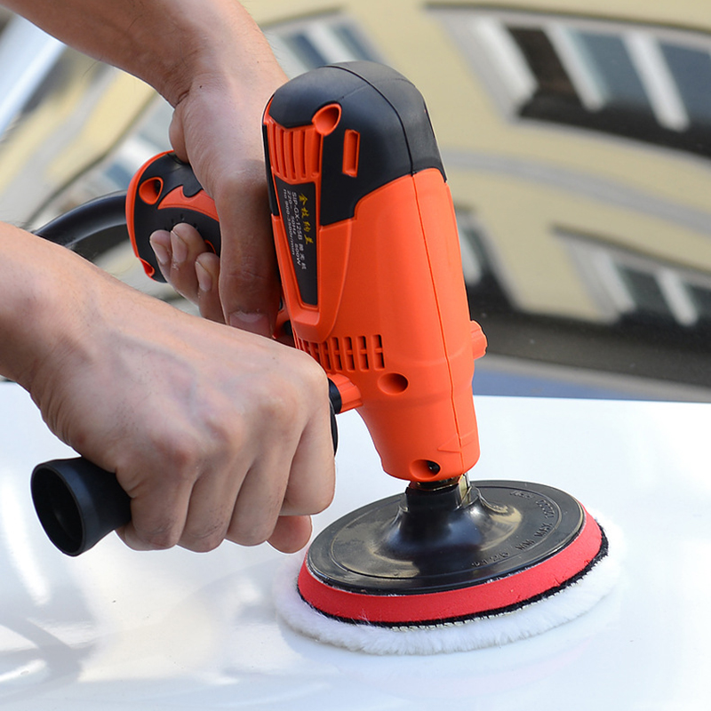 800W 6 Speeds Car Paint Polisher Machine 3500rpm 220V Polishing Machine Care Sanding Waxing Tools For Waxing Coating Cleaning