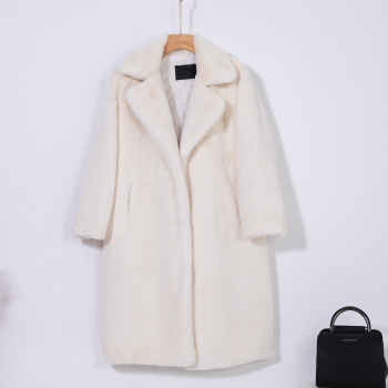 New Women Winter Warm Faux Fur Coat Thick Women Long Coat Turn Down Collar Women Warm Coat With Belt Casaco Feminino 15