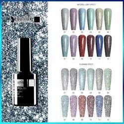 Beautilux Diamond Gel Nail Polish Soak Off UV LED Semi Permanent Flashing Nails Art Design Varnish Lacquer DIY Manicure 10ml