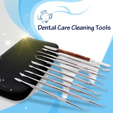 Hot 10 Pcs/Set Stainless steel Lab Equipment Wax Carving Tools Dentist Instruments Kit Dentist Care Cleaning Tools(China)