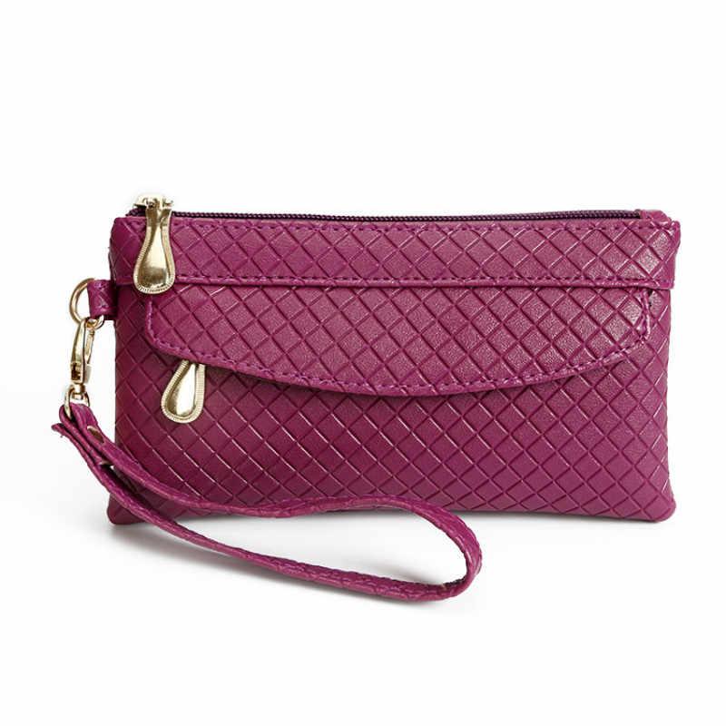 Portefeuille en cuir Pu pour femmes, pochette, étui pour téléphone, nouvelle mode