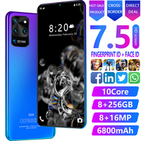 Android 9.0 Smartphone Plus 7.5 Inch Face/Fingerprint/Iris Recognition Smart Phone Free Case Free Shipping Cheap Phone