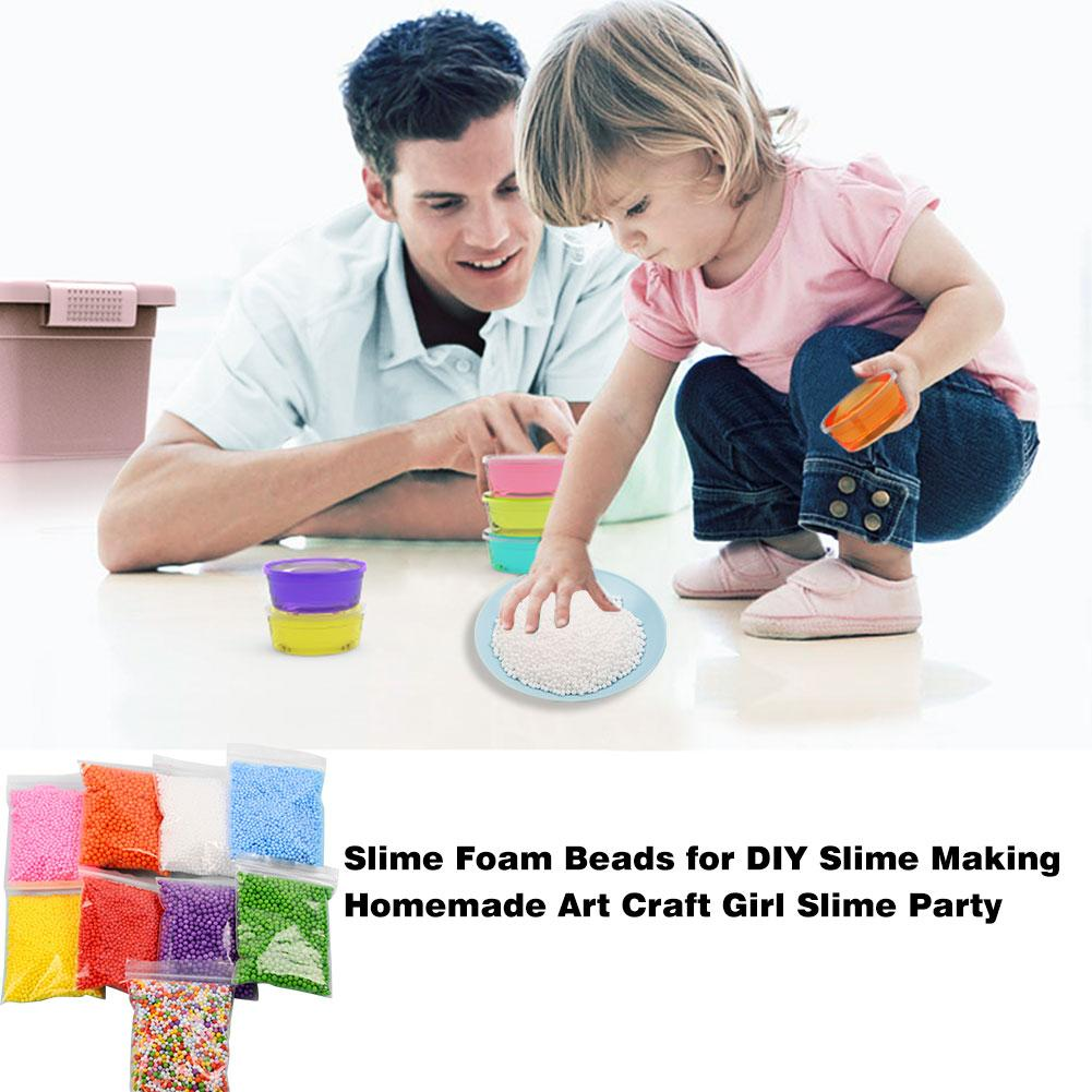 DIY Slime Accessories Foam Beads For DIY Slime Making Homemade Art Craft Slime Party Polymer Clay Toy Accessories Toys For Kids