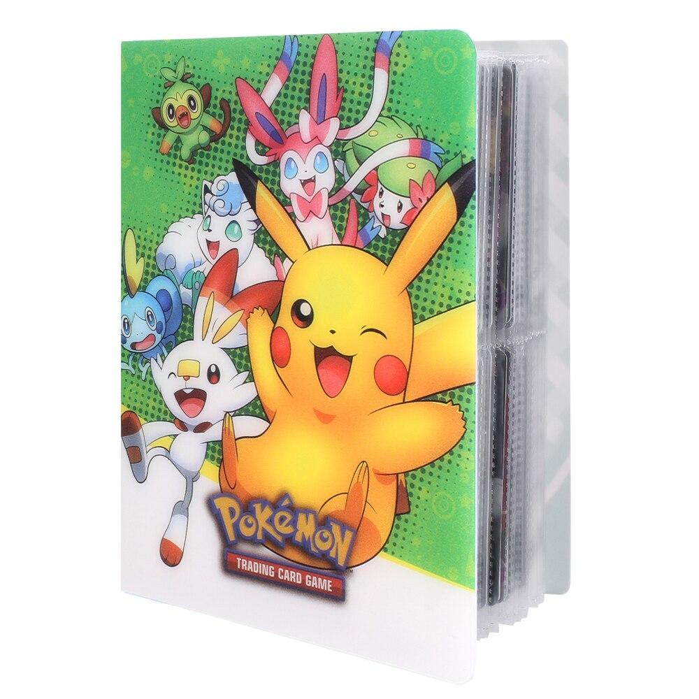 Новинка 2020 года, стильный держатель для карт Pokemones, 80 шт., альбом Pokemones, простой в использовании подарок для детей