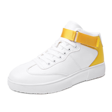 цены Fashion Men's High Top Sneaker Comfortable Non-slip for Men Walking Shoes Athletic Trainers Male Sport Footwear Outdoor Sneakers