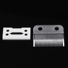 2Pc Hair Beard Replace Ceramic Blade Cutter Metal Bottom for Wahl Shear Clipper