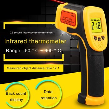 цена на Non-Contact GM320 Infrared Thermometer High Temperature Infrared Thermometer Thermometer Professional Portable Drop Shipping