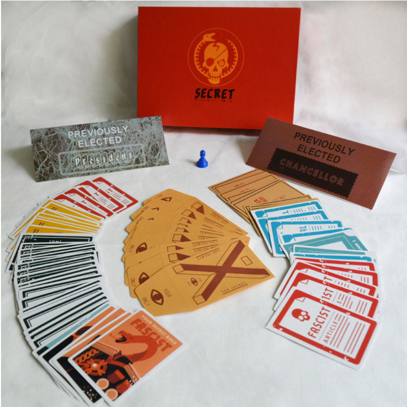 70 cards Secret Strategy table game party game Hitlering Travel game toy for kids adult Family Fun Kill time English version