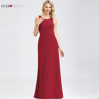 Elegant Lace Evening Dresses Ever Pretty A Line O Neck Sleeveless Bow Sashes Backless Chiffon Evening Gowns Robe De Soiree