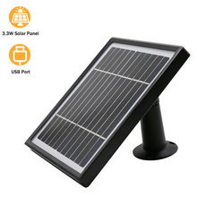 Hismaho Solar Panel 3.3W 3 Meter Cable For Outdoor Camera Security CCTV Rechargeable Battery Powered IP WiFi Camera
