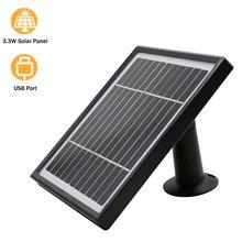 Panel Solar de 3,3 W Hismaho, Cable de 3 metros para cámara de exterior, seguridad CCTV, batería recargable, cámara IP WiFi