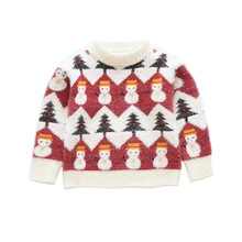 Baby Girls Sweaters Autumn Kids Girl Christmas Mane Sweater Toddler Pullover Cardigan Sweaters Winter Thick Outwear Tops Clothes цены онлайн