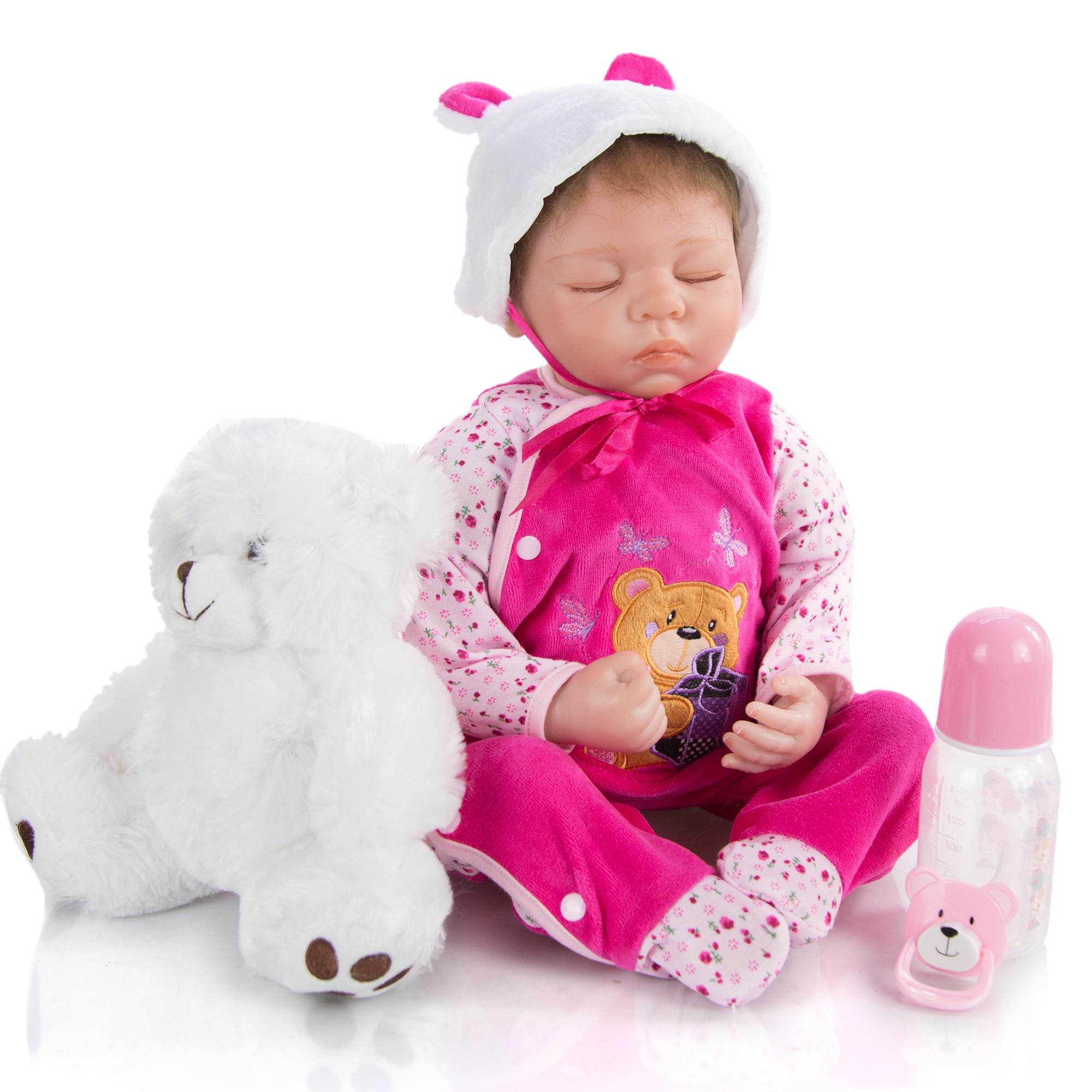 KEIUMI Freiheit Silikon Rebron Babys Puppe Spielzeug 22 Zoll Schlafen Baby Reborn Puppen Spielzeug Mit Niedrigsten Preis Auf Verkauf