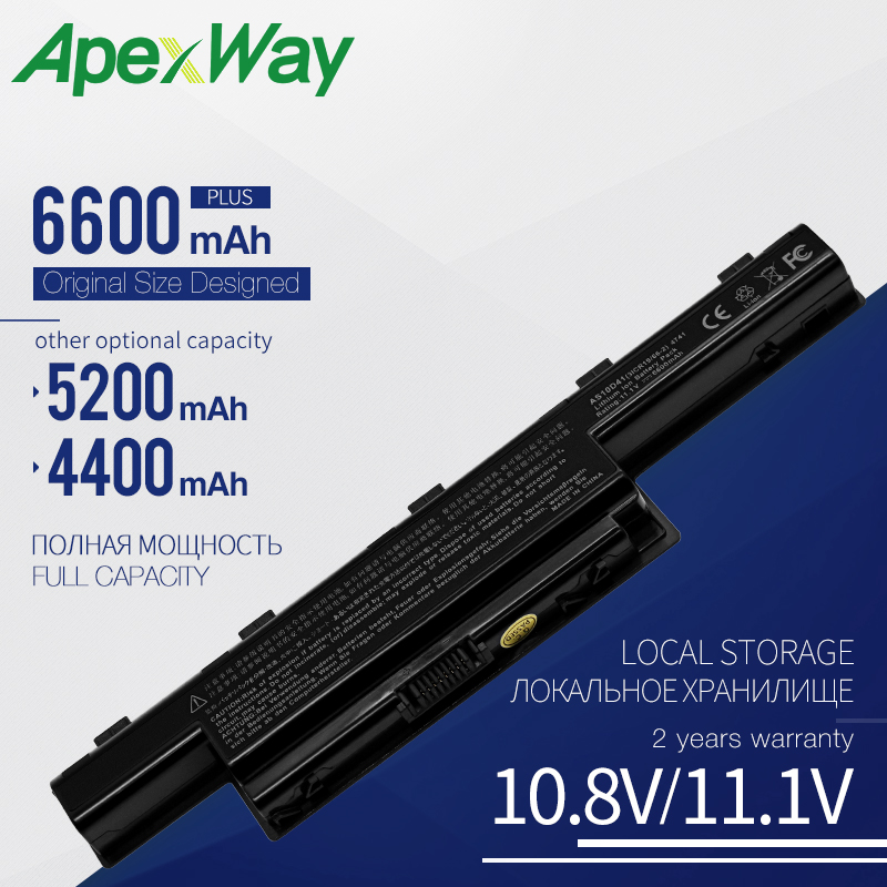 Apexway Laptop Battery AS10D31 AS10D51 AS10D81 For Acer Aspire 5750G 5742G V3 571G V3-571G 771G For Acer Battery AS10D61 AS10D71