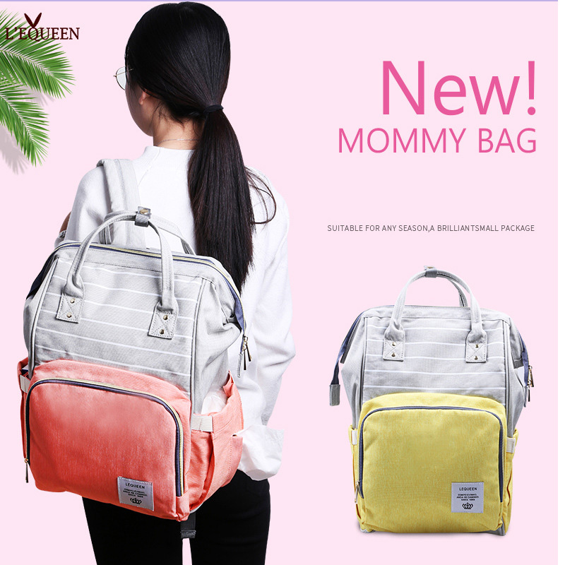Diaper Bag Waterproof Backpack Mommy Handbag Maternity Fashion Large Nappy Bag Outdoor Travel Baby Care Wetbag Baby Cart Bag