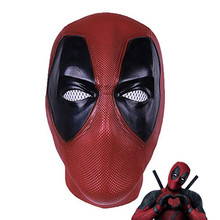 Movie Deadpool Latex mask Cosplay Wade Winston Wilson Full Head Helmet  Adult Costume Party Props