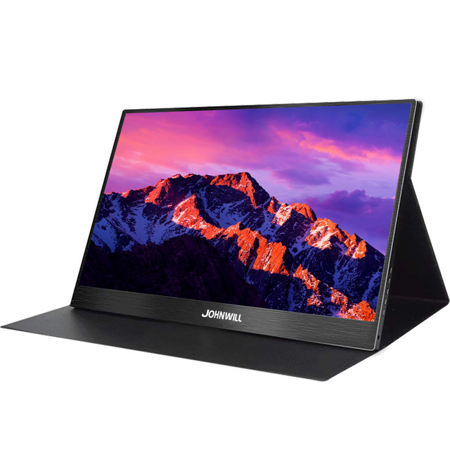 15,6 zoll USB Typ C HDMI 1920x1080 Tragbare HD Display für Laptop Telefon XBOX360 Schalter PS4 LCD gaming Monitor Pc mit Fall