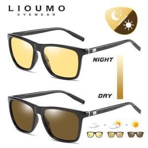 Image 3 - 스퀘어 브랜드 변색 선글라스 편광 된 여성 포토 크로 믹 안경 하루 밤 비전 운전 남자 태양 안경 UV400