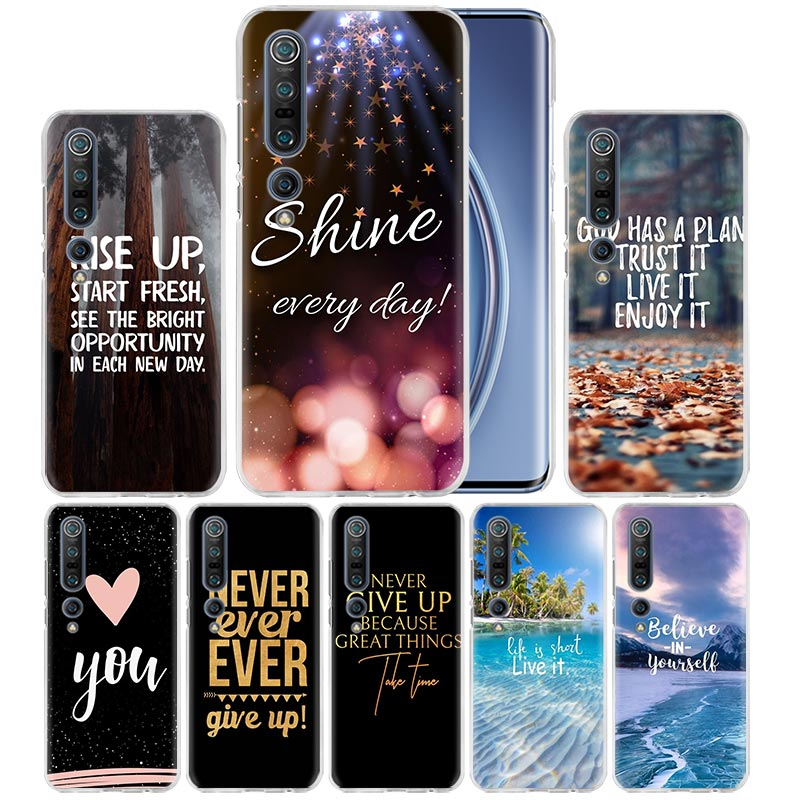 Nover Give UP Case For Xiaomi Mi Note 10 Pro 9T 9 CC9 A3 A2 8 Lite 6X 10Youth 5G Poco X2 F1 F2pro Hard Coque Fall