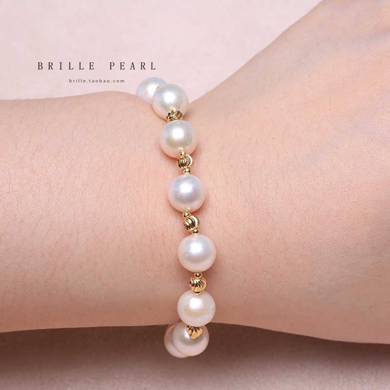 BaroqueOnly broche de corazón pulsera de perlas naturales collar de perlas naturales irregulares de agua dulce edison perla de tamaño múltiple blanco HQD